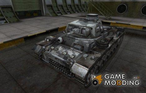 Камуфлированный скин для PzKpfw III для World of Tanks