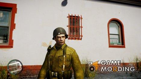Вито из Mafia II в военной одежде с каской для GTA 4