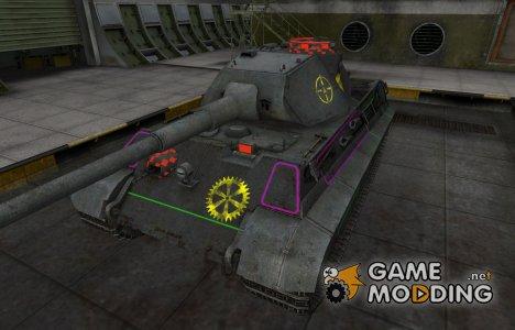 Контурные зоны пробития PzKpfw VIB Tiger II for World of Tanks