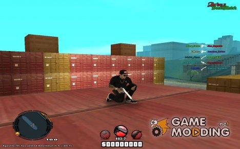 Ghetto C-HUD + постоянный прицел for GTA San Andreas