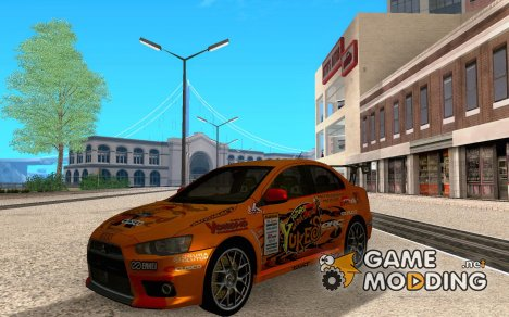 Mitsubishi Evo X Team Orange для GTA San Andreas