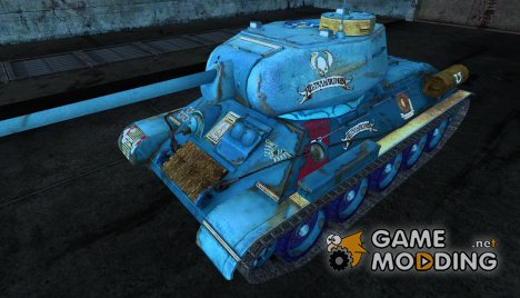 Шкурка для Т-34-85 Ultramarines (по Вархаммеру) for World of Tanks