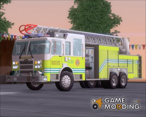 Pierce Arrow XT Miami Dade Fire Department Ladder 22 for GTA San Andreas