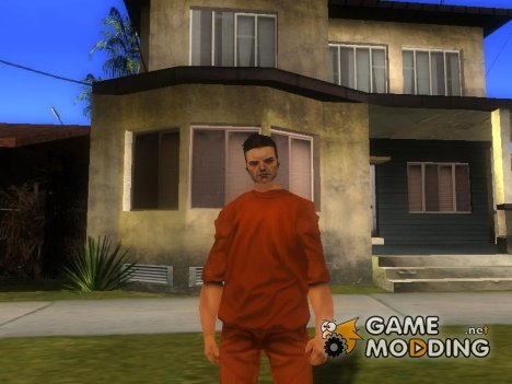 Claude Prison Uniform GTA 3 для GTA San Andreas