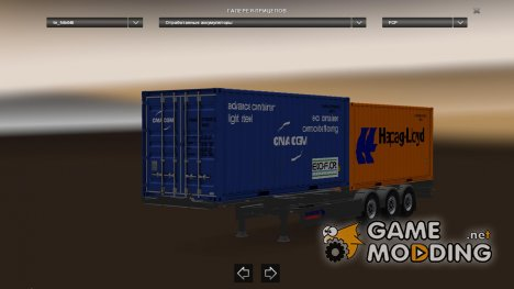 Trailer Pack Container V1.22 for Euro Truck Simulator 2