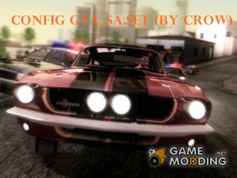 Config gta_sa.set (by crow) для GTA San Andreas