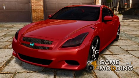 Infiniti G37 2008 Black Shark Pro-Service for GTA 4