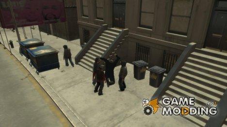 Наброситься на человека для GTA 4