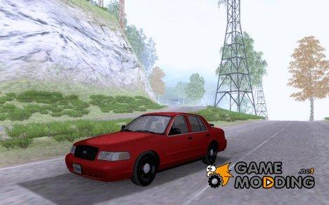 Undercover ALPR Ford Crown Victoria для GTA San Andreas