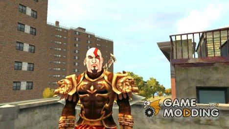 Кратос в доспехах бога для GTA 4