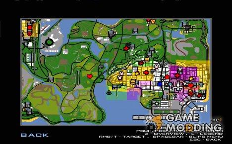 Аддон К Иконкам для GTA San Andreas