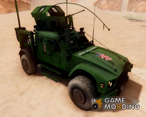 Oshkosm M-ATV Croatian Armoured Vehicle для GTA San Andreas