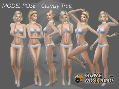 Model Pose Clumsy for Sims 4