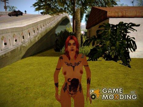 Голая девушка с тату for GTA San Andreas