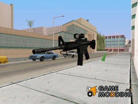 M4 на замену Снайперской винтовки для GTA San Andreas