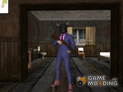 Skin GTA V Online HD в маске for GTA San Andreas