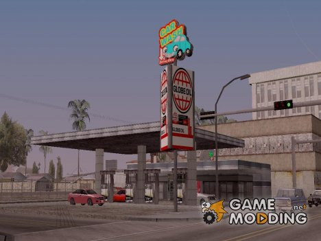 New oil station in Idlewood для GTA San Andreas