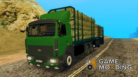 Maз 6430 Лесовоз для GTA San Andreas