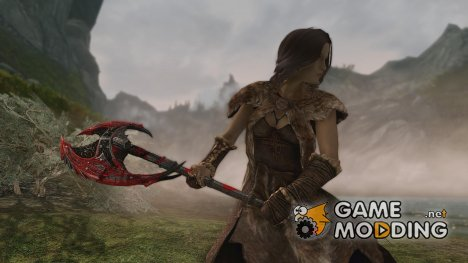 Daedric Blood Battleaxe для TES V Skyrim
