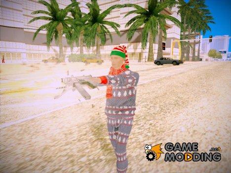 Новогодний игрок из GTA Online for GTA San Andreas