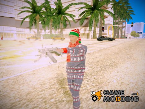 Новогодний игрок из GTA Online для GTA San Andreas