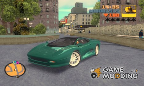 "Jaguar XJ220S ""Black Revel"" for GTA 3"
