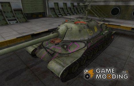 Контурные зоны пробития ИС-7 для World of Tanks