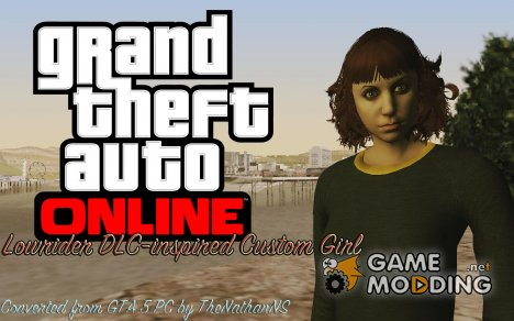 Skin HD Custom Girl (GTA Online DLC) для GTA San Andreas