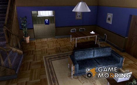 Новый зал в доме CJ для GTA San Andreas