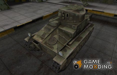 Пустынный скин для Vickers Medium Mk. I для World of Tanks