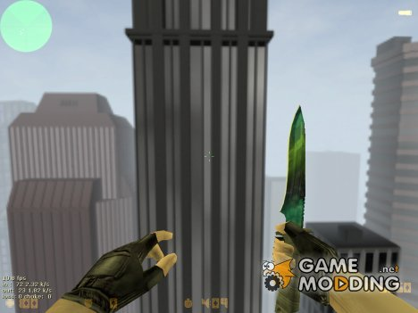 "Knife ""Gamma Doppler"" for Counter-Strike 1.6"