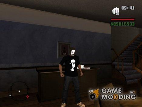Футболка Эрик Дрейвен Ворон для GTA San Andreas