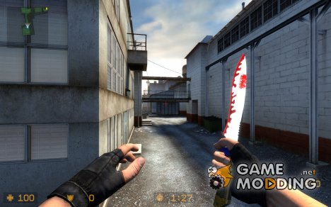 Planets Funky Knife Skin для Counter-Strike Source