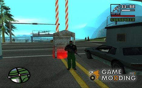 Работа пограничника 1.0 for GTA San Andreas