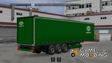 Vieira Vacas Profiliner Trailer для Euro Truck Simulator 2