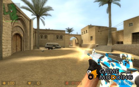 Wicked Camo Blue for Counter-Strike Source