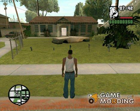 Оружия рядом с домом Cj  V.2. для GTA San Andreas