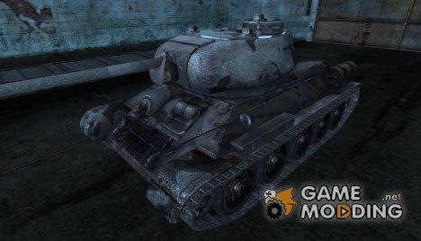 """шкурка для Т-34-85 """"ржавый ветеран"""" for World of Tanks"""