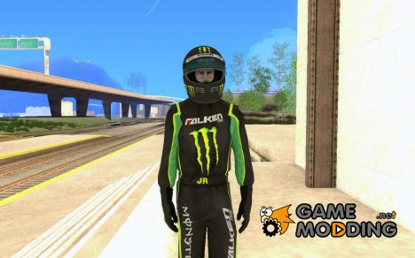 Falken Monster Energy PED для GTA San Andreas