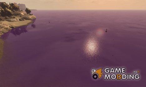 Фиолетовый цвет воды for GTA 4