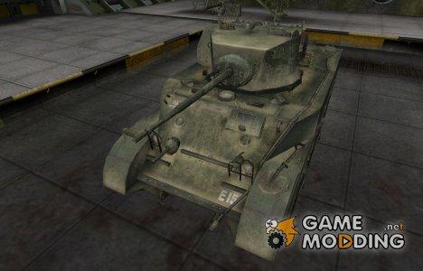 Исторический камуфляж M5 Stuart for World of Tanks