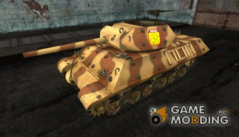 Шкурка для M10 Wolverine Brazil (brown) for World of Tanks