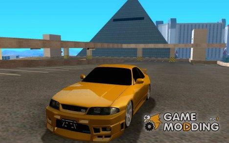 Nissan Skyline R33 HKS для GTA San Andreas