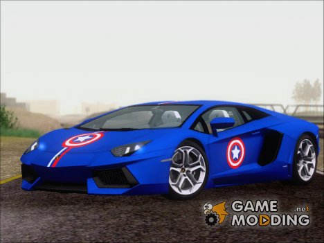 Lamborghini Aventador LP700 2012 Captain America for GTA San Andreas