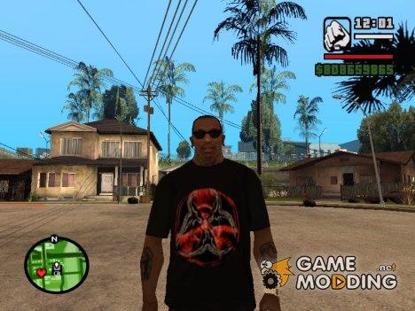 Футболка с логотипом игры Stalker for GTA San Andreas