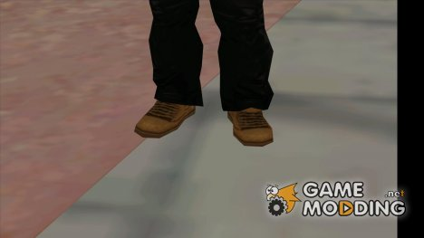 CJ brown boots from beta для GTA San Andreas