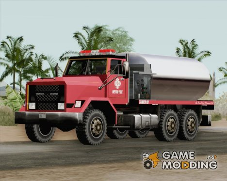 Flatbed - Metro Fire Tanker 69 for GTA San Andreas