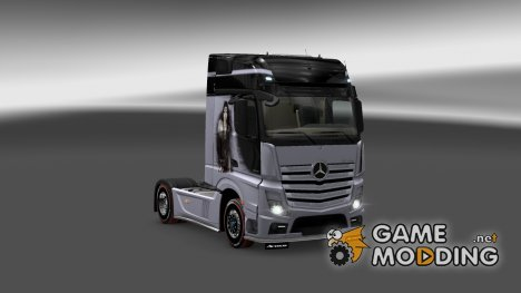 Mercedes Actros MP4 2014 Silver Lady Skin for Euro Truck Simulator 2