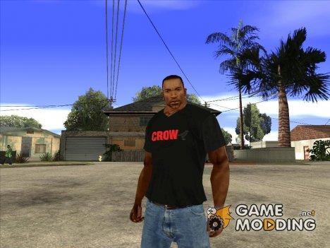 CJ в футболке (Crow) для GTA San Andreas