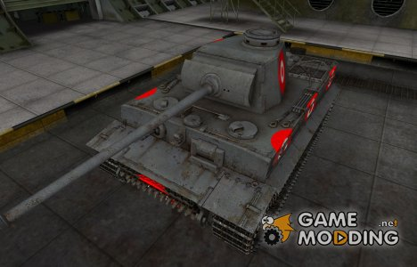 Зона пробития для PzKpfw VI Tiger for World of Tanks